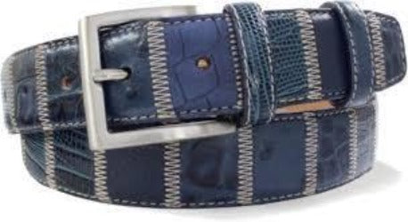 Robert Charles Patchwork Blue Belt