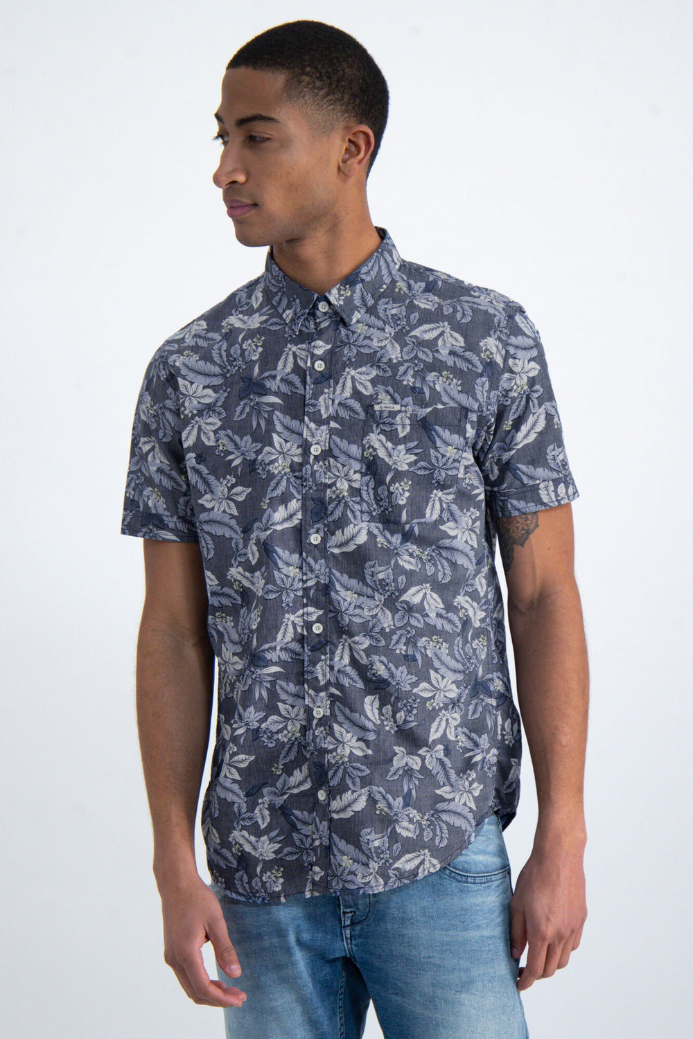 Garcia Dark Moon Floral SS Shirt