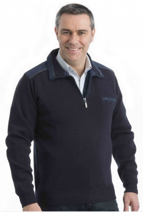 Sovrano 1/2 Zip Pullover 8700 Charcoal