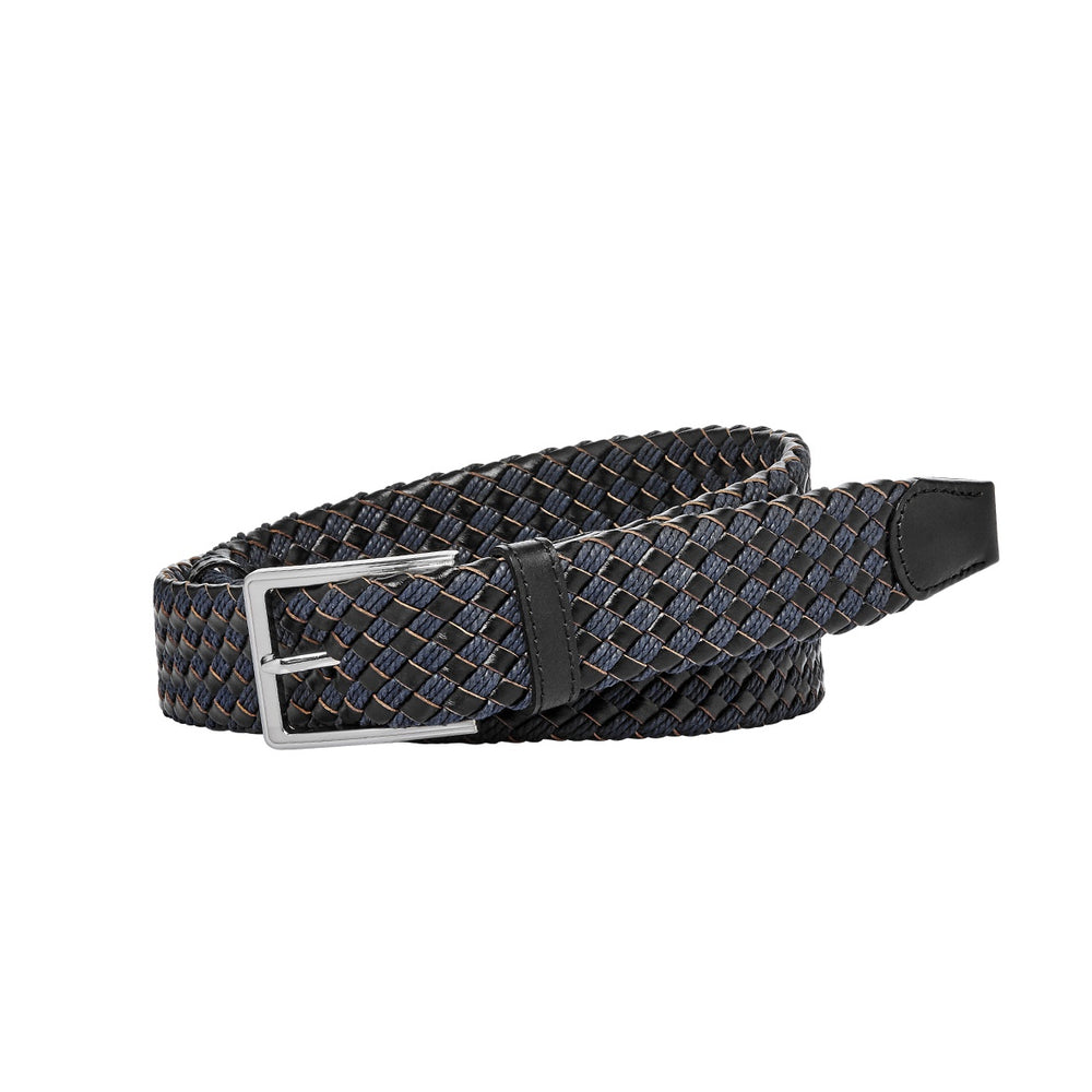Buckle Miami Navy Plaited Belt
