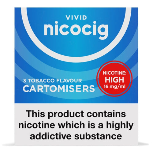Nicocig Electronic Cigarette High Strength Tobacco Refill Cartridges Pack of 3 X 20 (1 Pack Free)