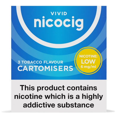 Nicocig (Nicolites) Electronic Cigarette Low Strength Tobacco Refill Cartridges Pack of 3 X 10