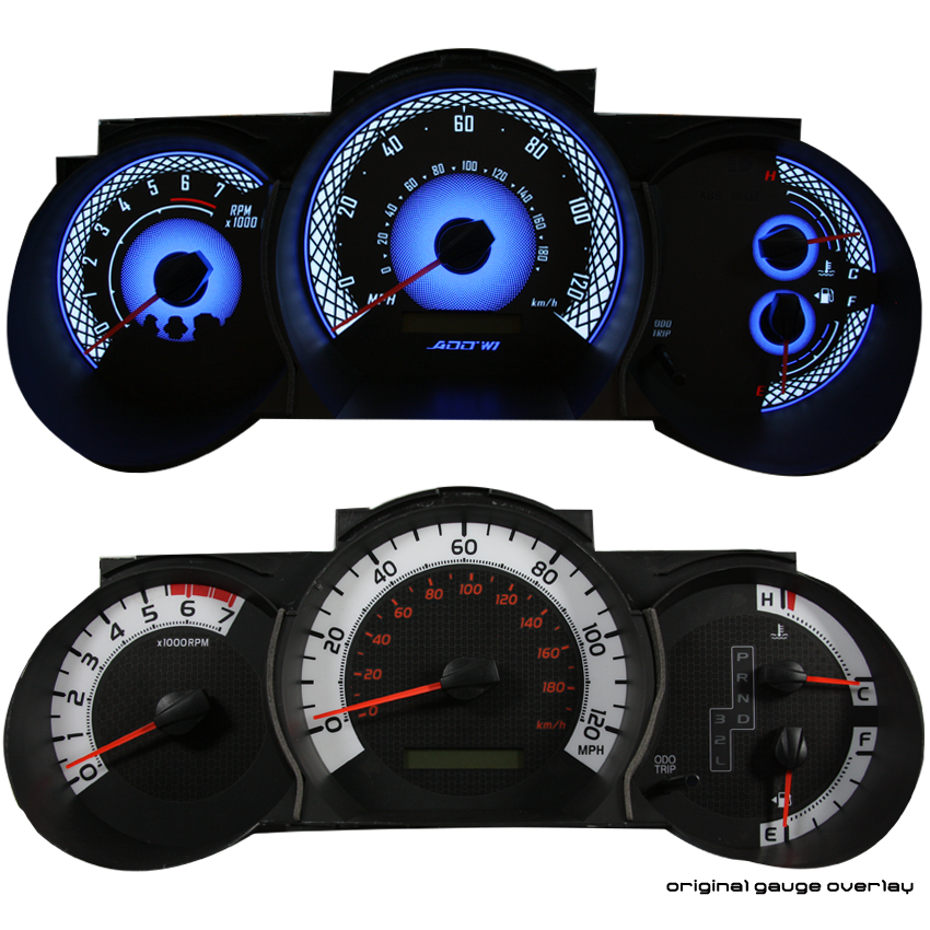 ADD W1 Toyota Tacoma Overlay Face Gauge 2012-2015 Auto - 3D Illusions