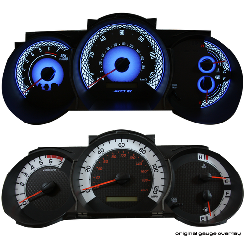 ADD W1 Toyota Tacoma Overlay Face Gauge 2012-2015 Manual - 3D Illusions