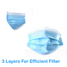 Z-50 PCS Face Mask Disposable 3-ply Filter Face Protective Cover Personal Protection