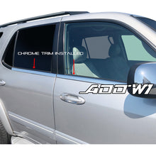 weather strips chrome overlay for Toyota Sequoia 2001-2007