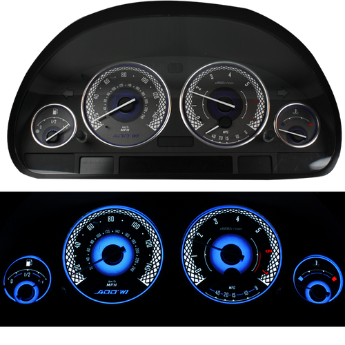 ADD W1 BMW Overlay Face Gauge E39, 7 Series E38, X5 5 Series  - 3D Illusions