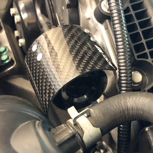 Air Filter Carbon Fiber Heat shield Cover Breather