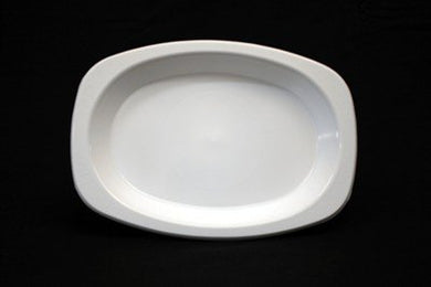 Festive Micro Safe Regular Oval Plate 10x50pc-White