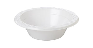"Plastic Dessert Bowl 5"" 10x50pc - White"