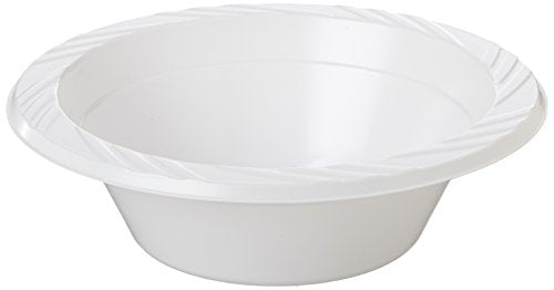 "Plastic Dessert Bowl 7""10x50pc - White"