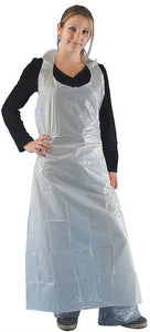 Disposable Aprons Long - Ind/Wrapped 85x150cm 10x100pc (White)