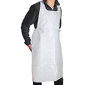 Disposable Aprons - ind/wrapped 10x100pc (white)