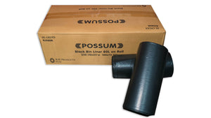 Possum Bin Liner 80L Black 250pc 10x25pc/Roll