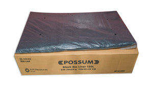 Possum Bin Liner 120L Black 250pc
