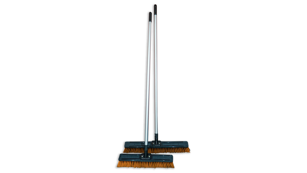 Orange Outdoor Push Broom