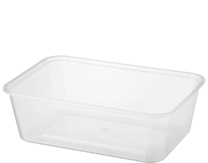 Disp Rectangular Container 750ml 500pc-Clear
