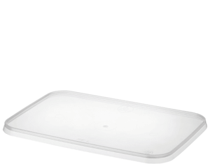 Lid for Rectangular Container 500pc - Clear