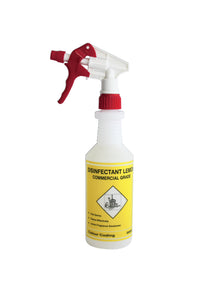 Spray Bottle with Trigger - Disinfectant 500ml