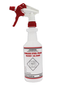 Spray Bottle with Trigger - Stainless Steel Polish 500ml