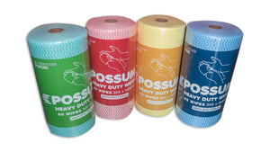 Possum Heavy Duty Antibac Wipes Roll 6roll 85sht