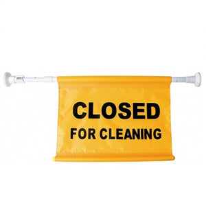 "Door Warning Flag ""CLOSED FOR CLEANING"" Yellow"