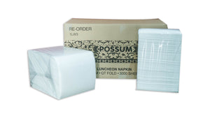 Luncheon Serviettes Q-Fold White 1ply 3000pc