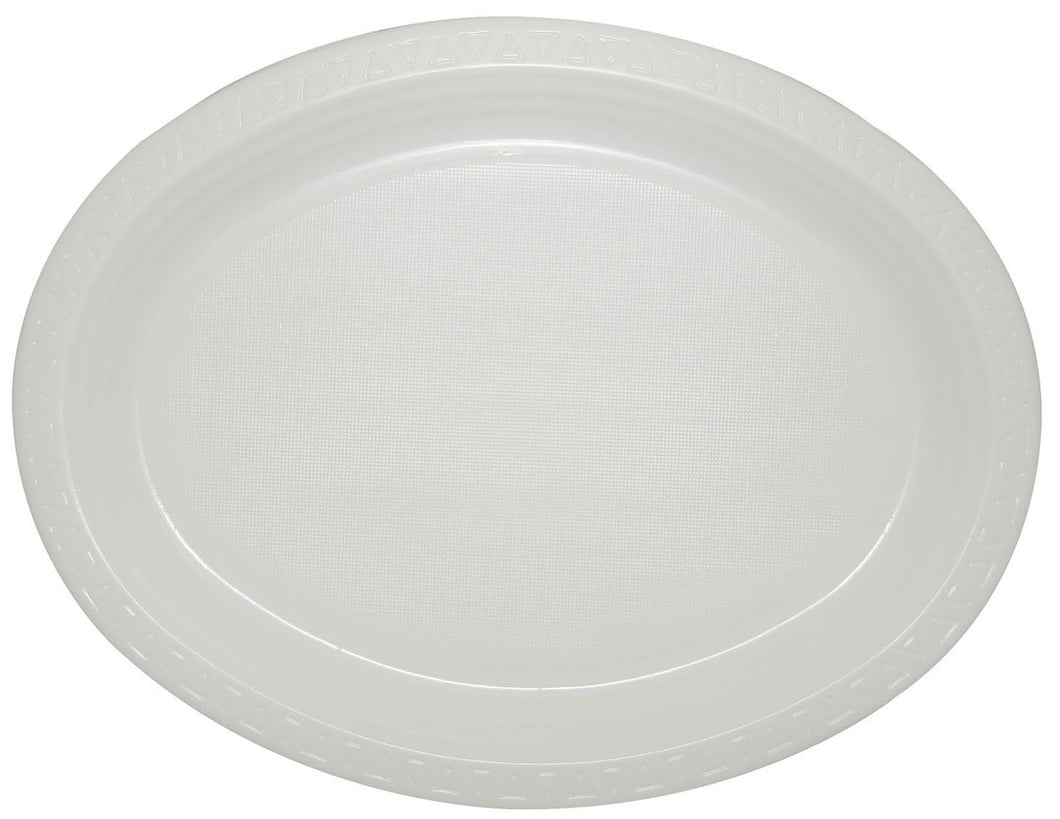 Regular Oval Plate 10x50pc - White
