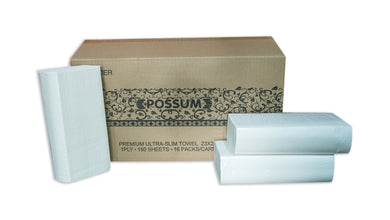 Possum Premium Ultraslim Hand Towel 23x24cm 16x150sht 2400pc