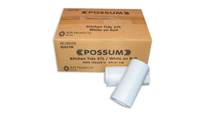 Possum White 27L Tidy Bag Roll 50x20pc