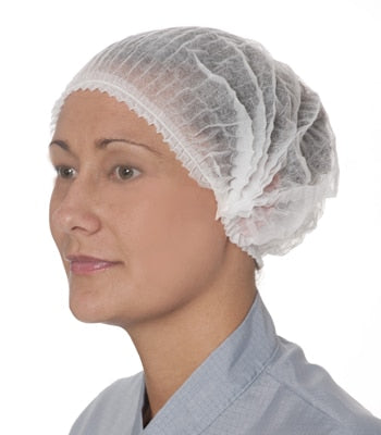 Hair Net Crimped White 10x100pk