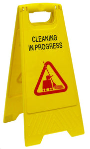 Caution Sign - cleaning in progress Yellow