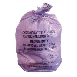 Purple Cytotoxic Waste Bags 100pc