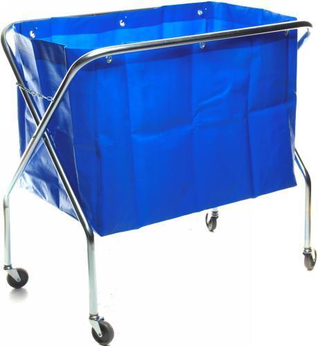 Waste Trolley with Blue Poly Bag