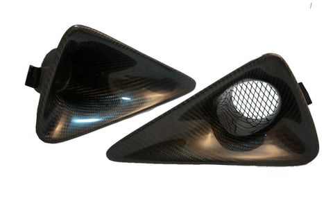 FN2 Fog Lamp Scoops - Carbon Fibre - MK8 Civic