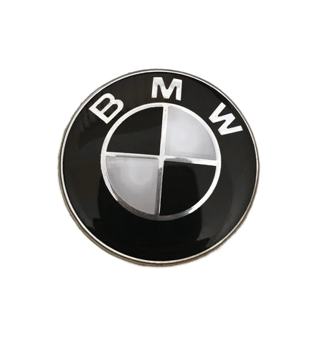 BMW Black & White Steering Wheel Badge - F20 F21 F22 F87 F32