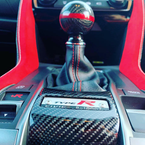 FK8 R Number Surround - Carbon Fibre