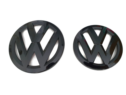 VW Golf Gloss Black Front and Rear Badge Cover - MK6