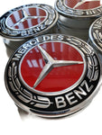 Red Mercedes Wheel Caps