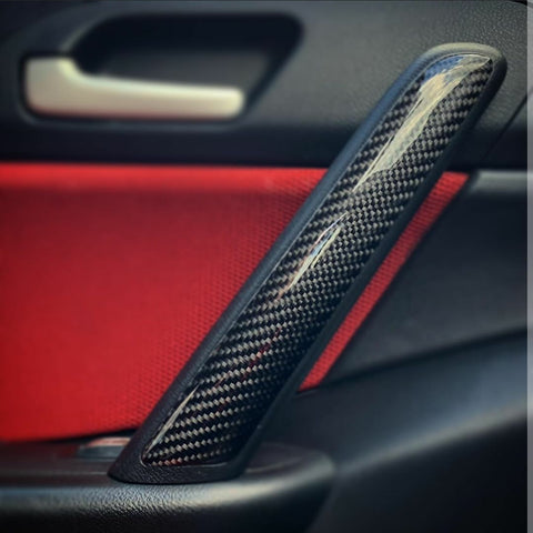 EP3 Inner Door Handle Trim Covers- Carbon Fibre - Civic MK7 2002-06