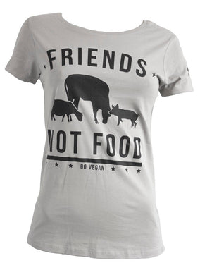 Friends not food - ljusgrå