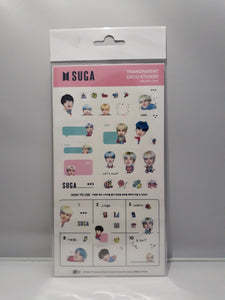 Transparent Deco Stickers - BTS SUGA