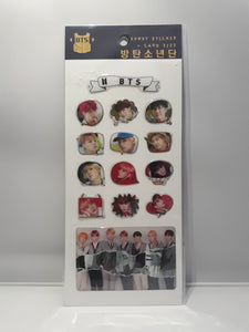 Epoxy Sticker and Card Size - BTS