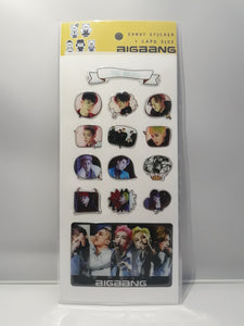 Epoxy Sticker and Card Size - BIGBANG