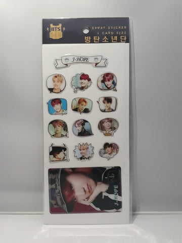Epoxy Sticker and Card Size - BTS J-HOPE