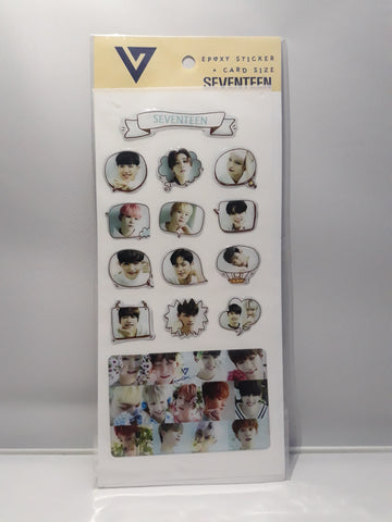 Epoxy Sticker and Card Size - SEVENTEEN