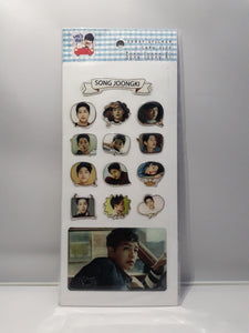 Epoxy Sticker and Card Size - SONG JOONG KI
