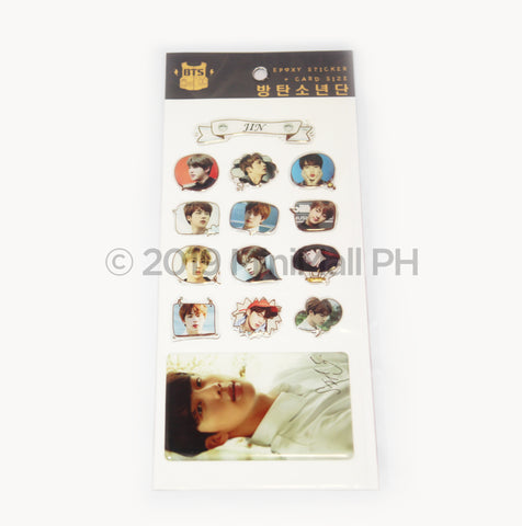 Epoxy Sticker and Card Size - BTS JIN