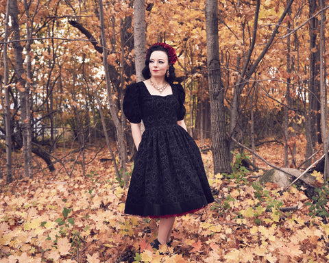 Dark Pinup fantasy dress by PMdesigns by Pamela Marie available at Hollyville