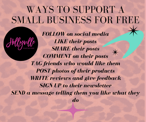 Ways to support a small business without spending a thing - Hollyville